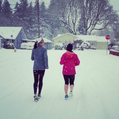 Snowy run with my girl.