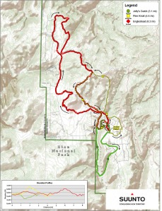 The trail map.