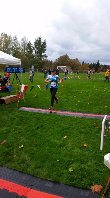 Finishing my first XC race!