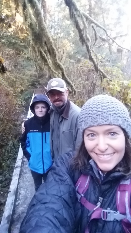 Hiking with my boys.