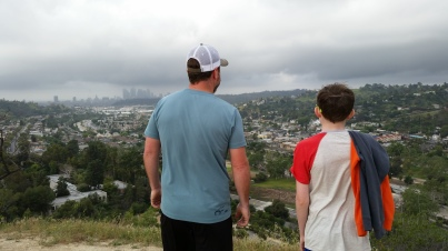 My boys checking out the view.